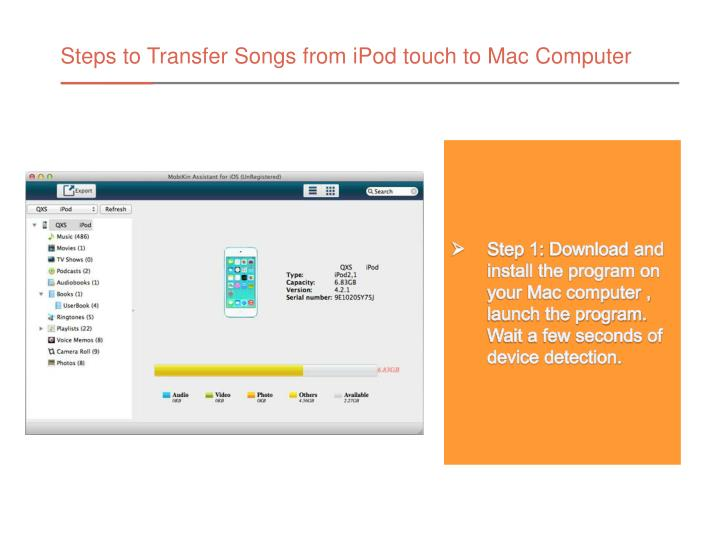 Steps to Transfer Songs from iPod touch to Mac Computer