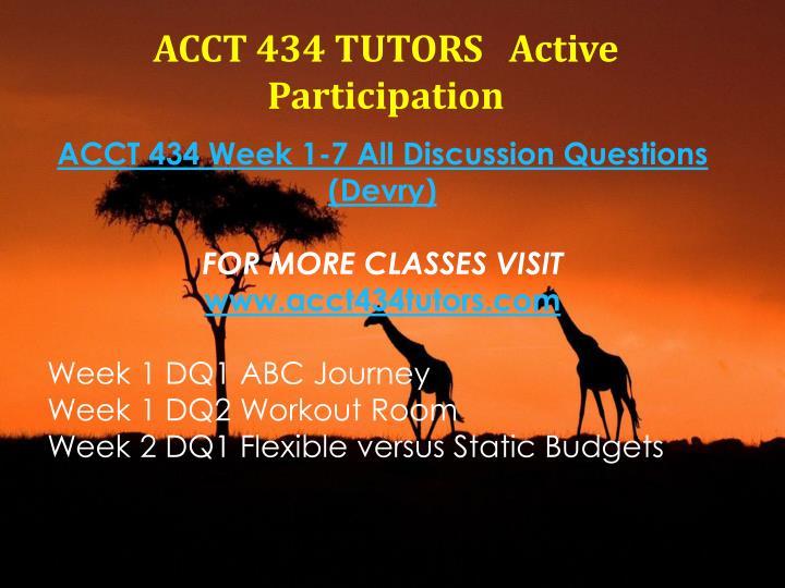 ACCT 434 TUTORS