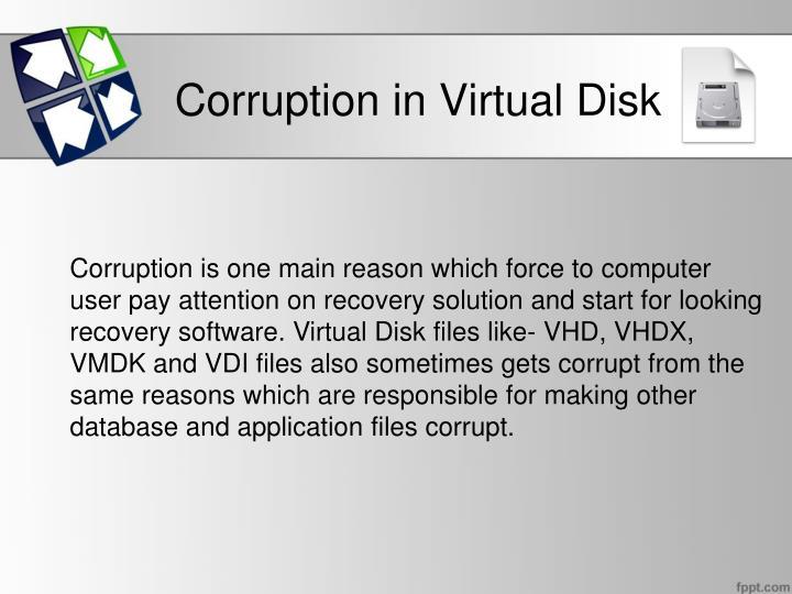 Corruption in Virtual Disk
