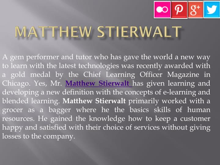 Matthew Stierwalt
