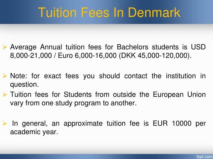 Tuition Fees In Denmark