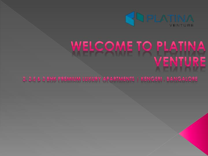 Welcome to platina venture