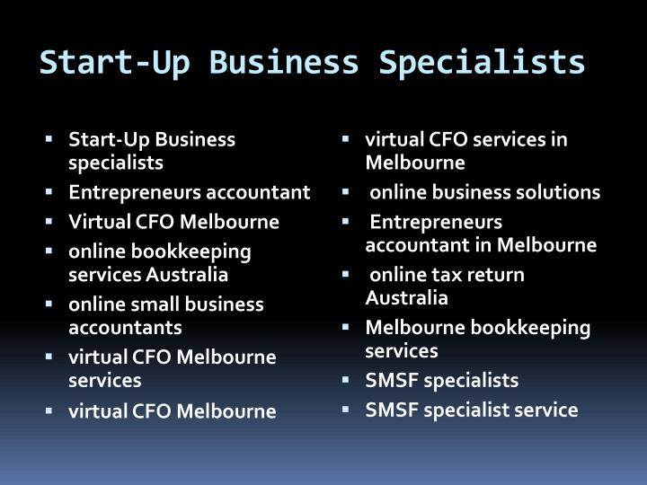 Start-Up Business Specialists