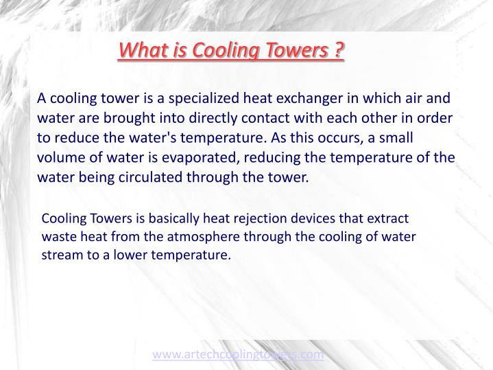 What is cooling towers