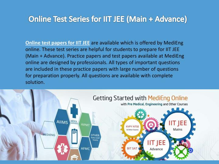 Online Test Series for IIT JEE (Main + Advance)