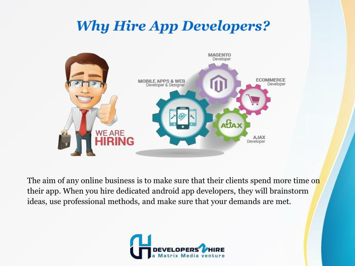 Why hire app developers