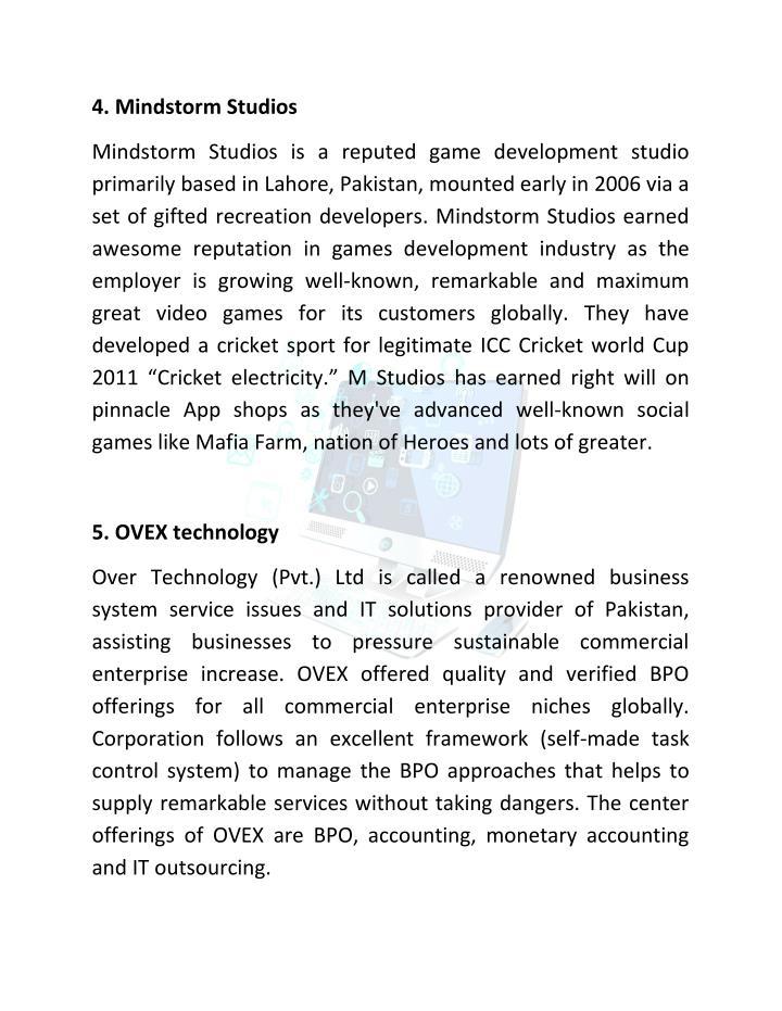4. Mindstorm Studios