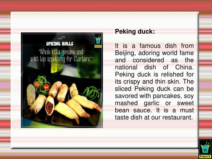 Peking duck: