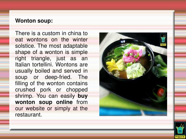 Wonton soup: