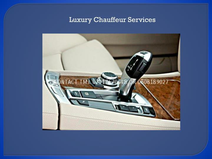 Luxury Chauffeur Services