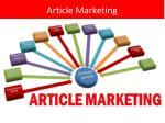 article marketing