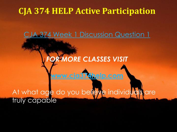CJA 374 HELP Active Participation