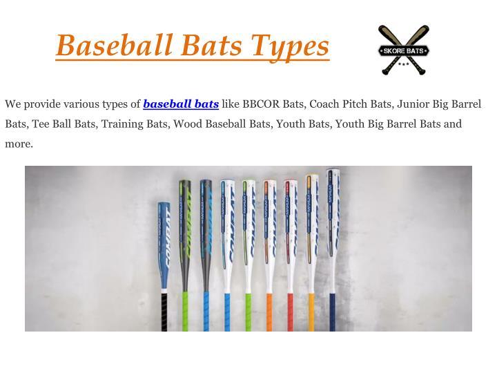 Baseball Bats Types