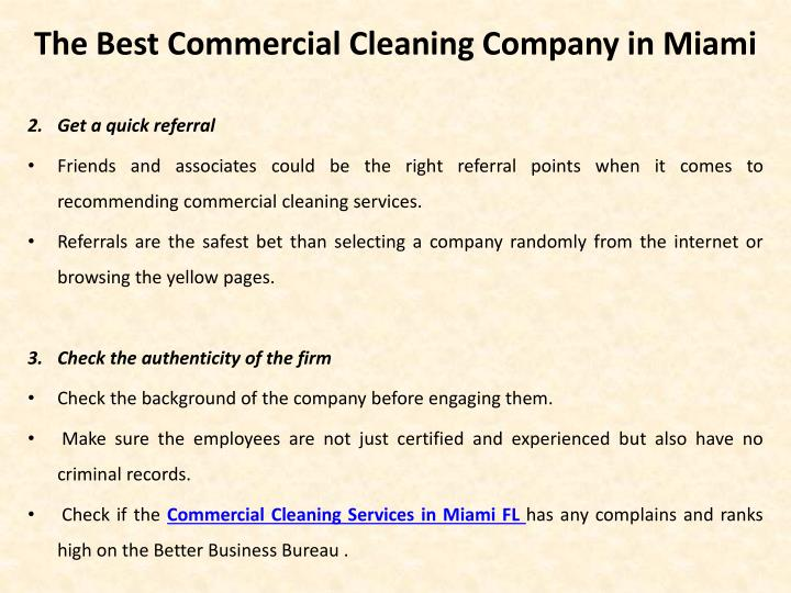 The best commercial cleaning company in miami