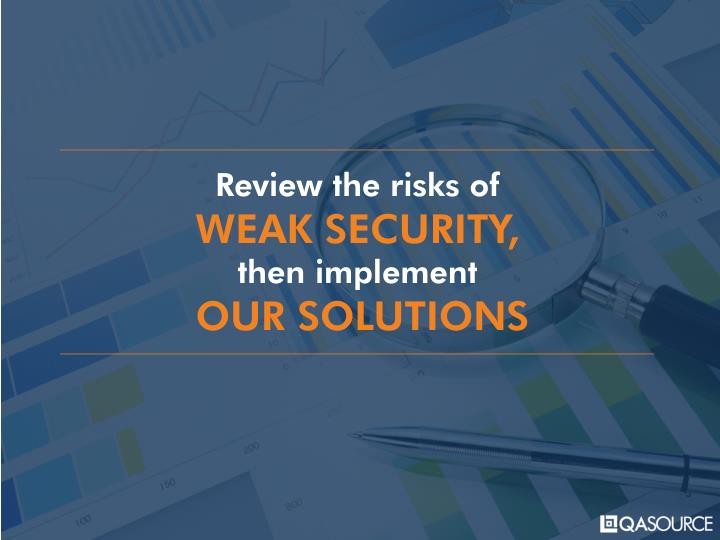 Review the risks of