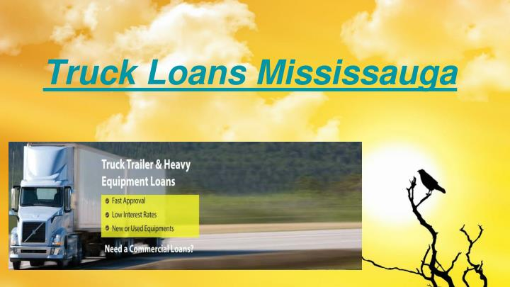 Truck loans mississauga