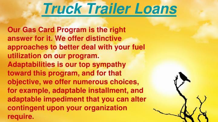 Truck Trailer Loans