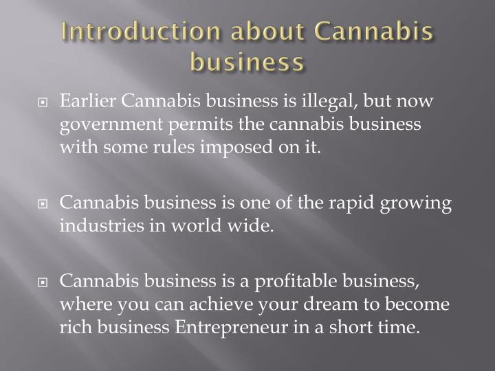 Introduction about Cannabis business