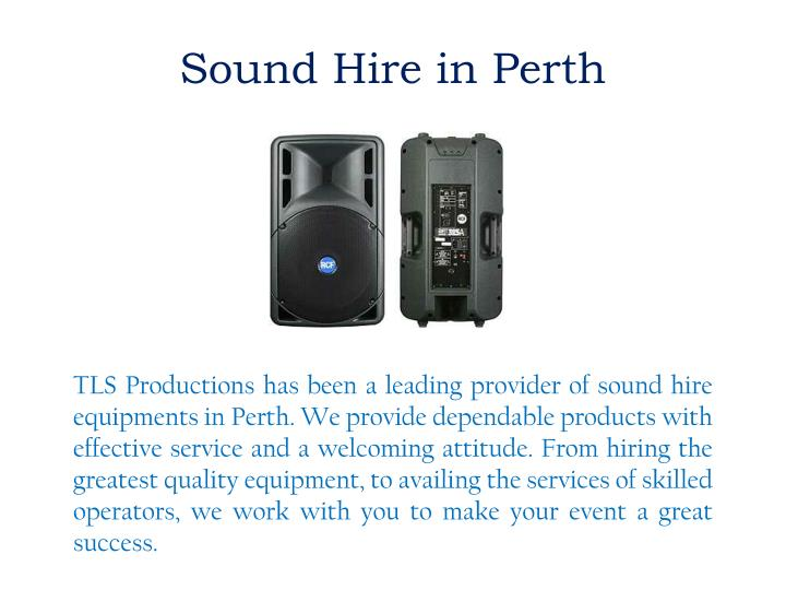 Sound Hire in Perth