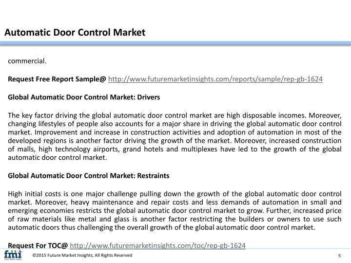 Automatic Door Control Market