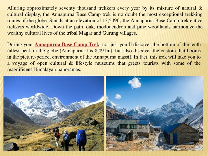 Alluring approximately seventy thousand trekkers every year by its mixture of natural &