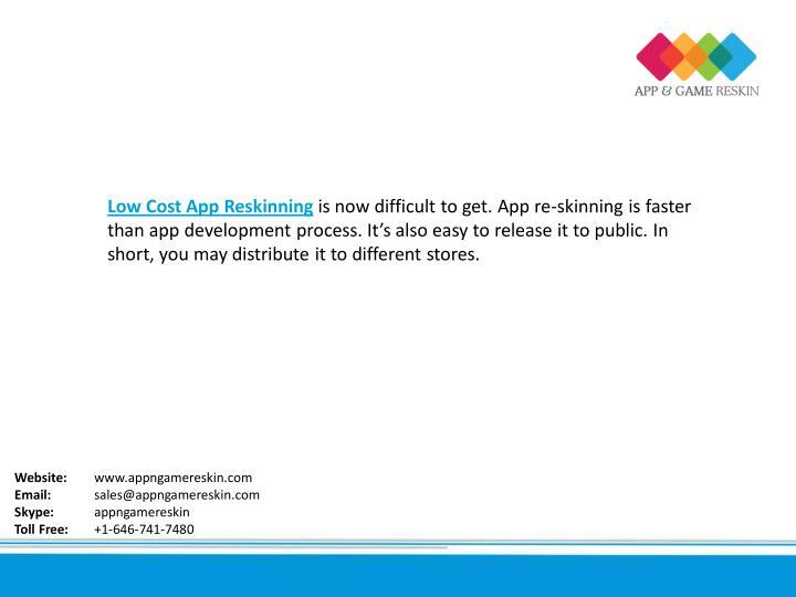 Low Cost App Reskinning