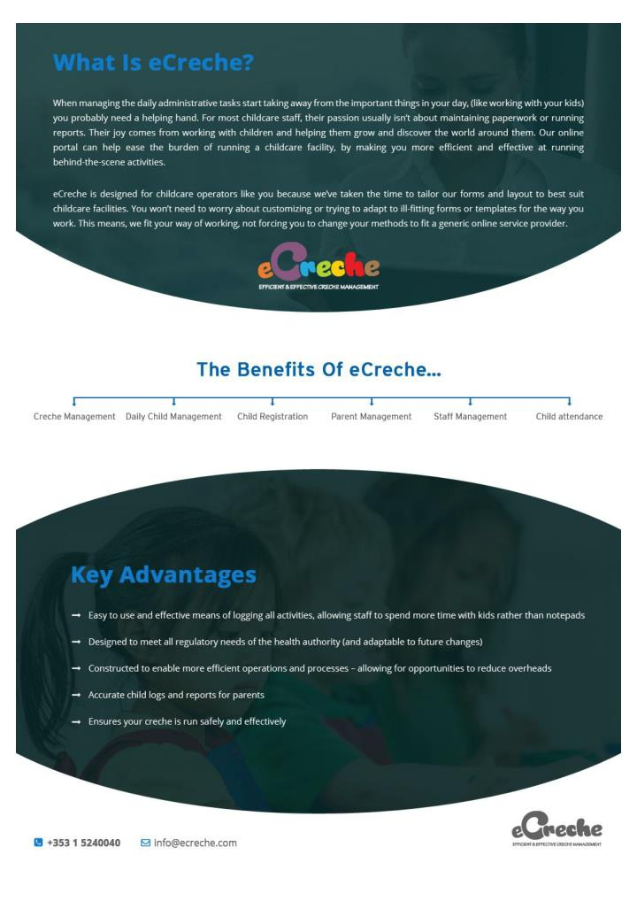 Ecreche childcare application software