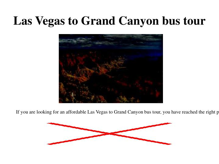 Las Vegas to Grand Canyon bus tou