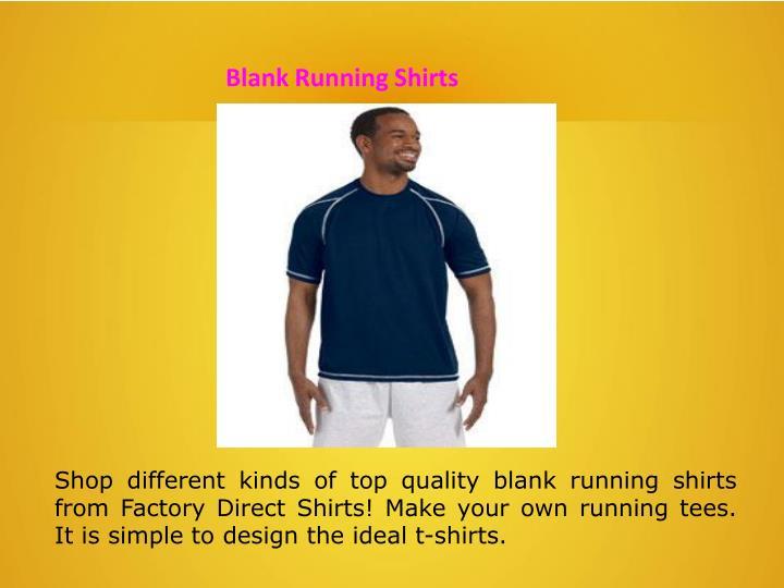 Blank Running Shirts