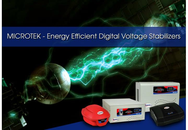 Microtek energy efficient digital voltage stabilizers