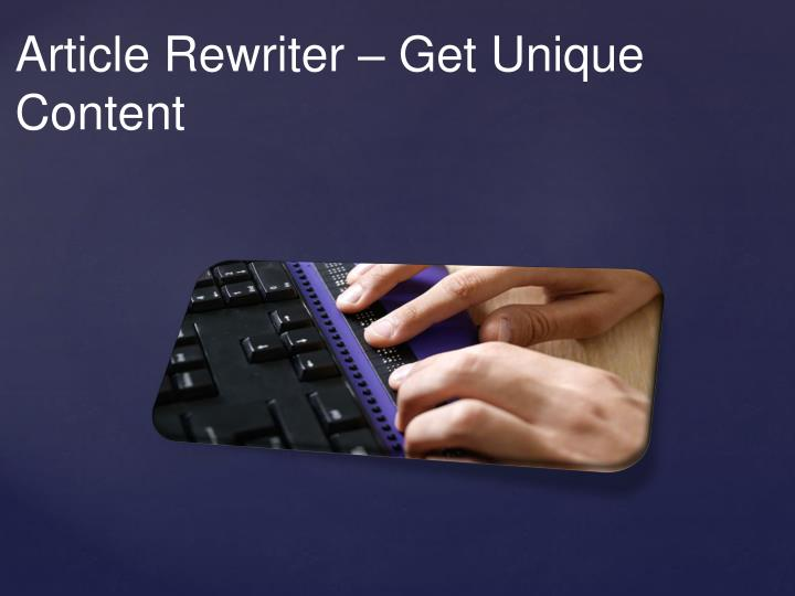 Article Rewriter –