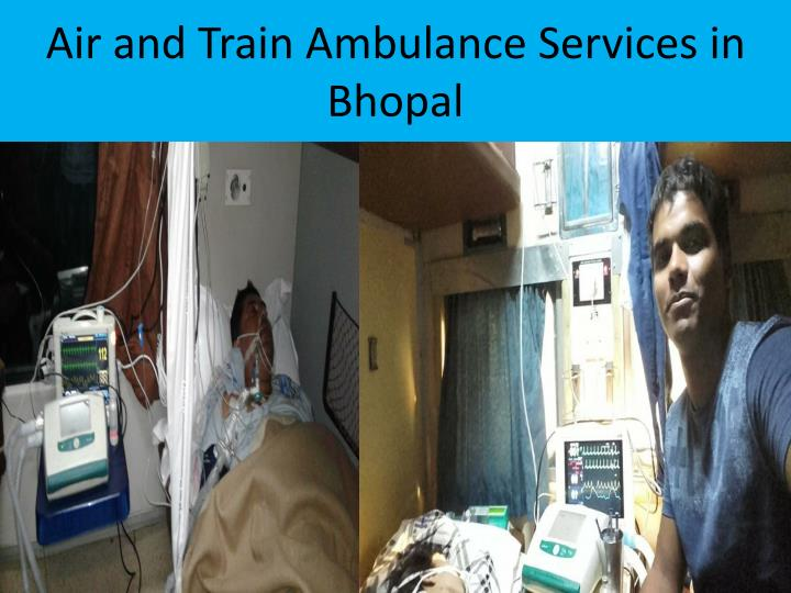 Air and Train Ambulance Services in Bhopal