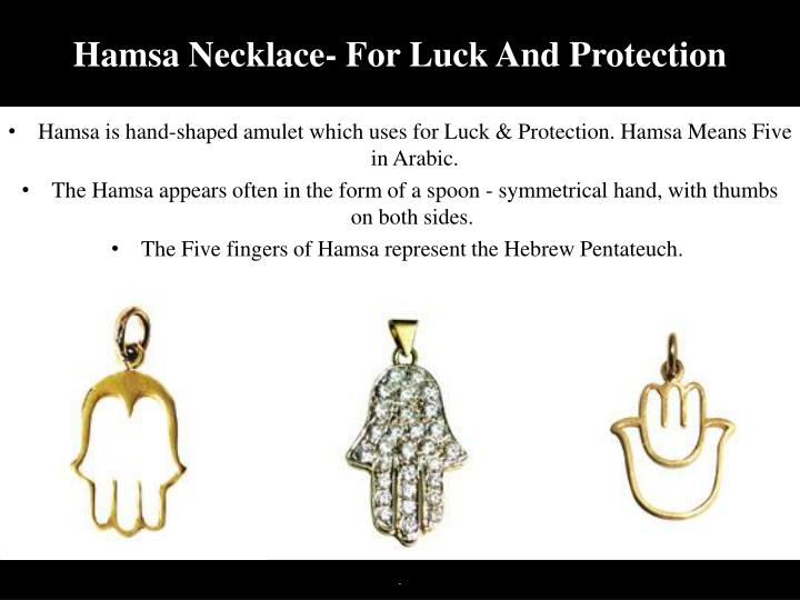 Hamsa necklace for luck and protection