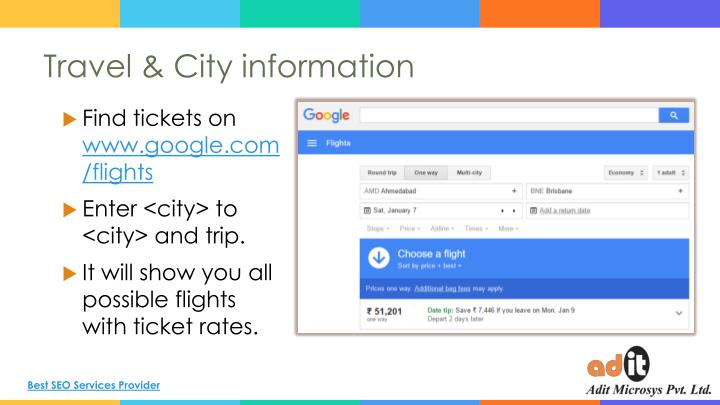 Travel & City information
