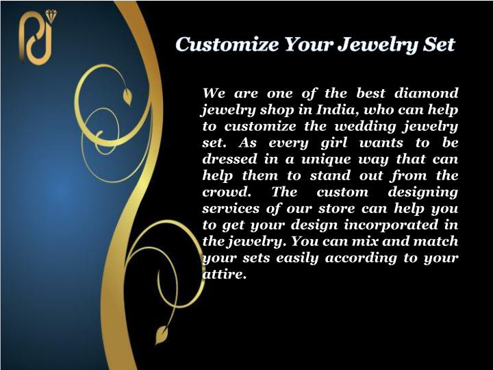 Customize Your Jewelry Set