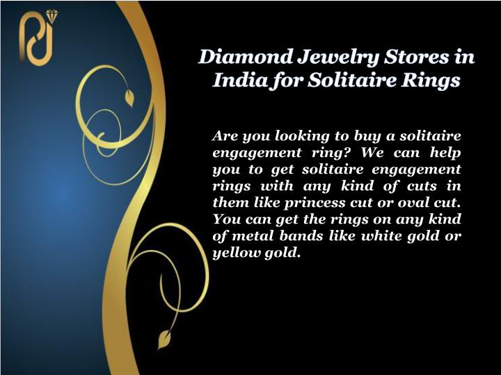 Diamond jewelry stores in india for solitaire rings