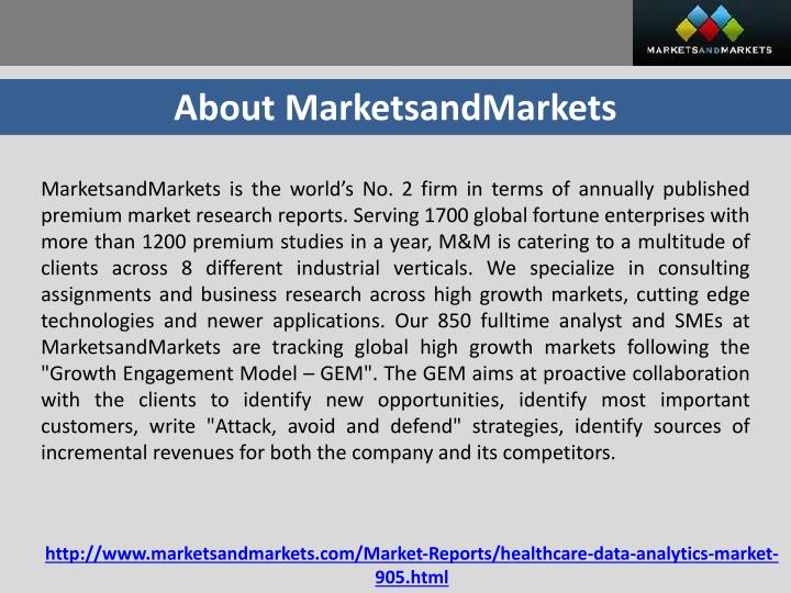 About MarketsandMarkets