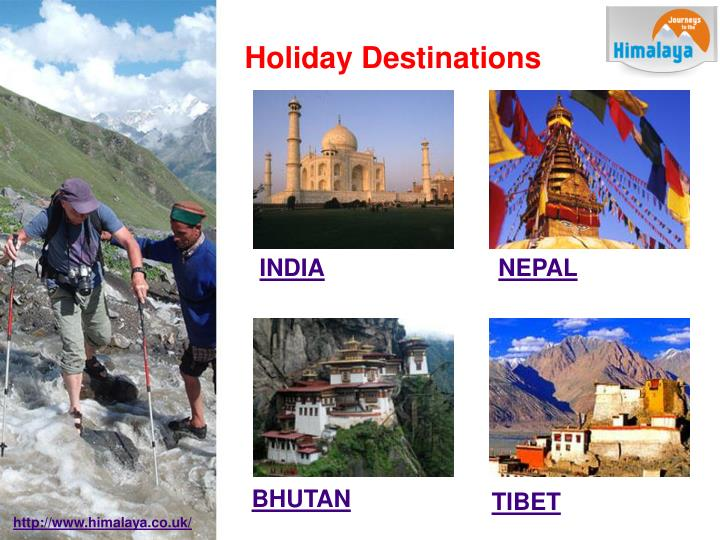 Holiday destinations