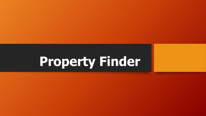 Property finder