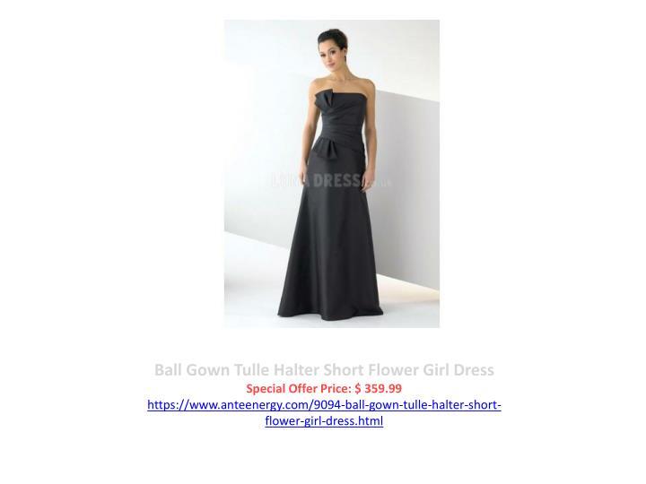 Ball Gown Tulle Halter Short Flower Girl Dress