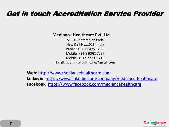 Get in touch Accreditation Service Provider