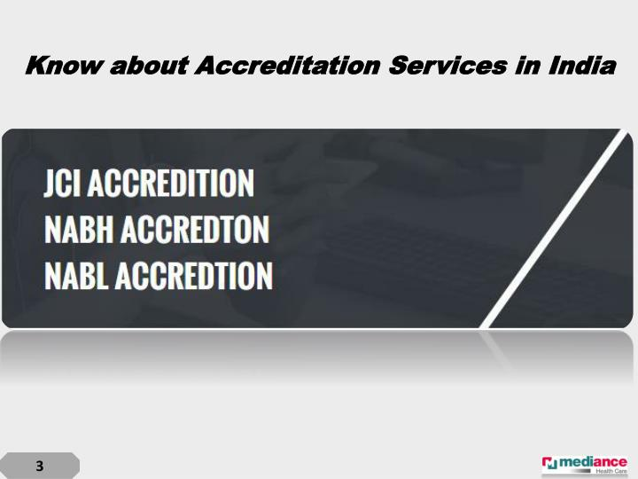 Know about accreditation services in india