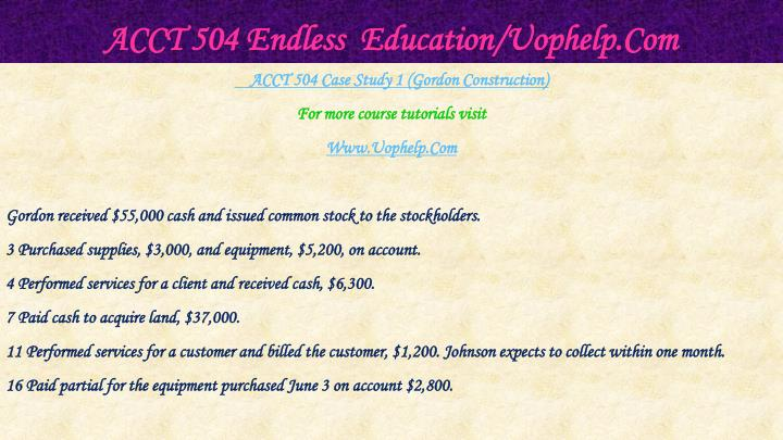 Acct 504 endless education uophelp com2