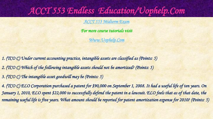 Acct 553 endless education uophelp com2