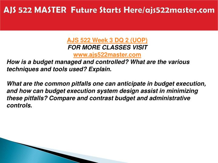 AJS 522 MASTER  Future Starts Here/ajs522master.com