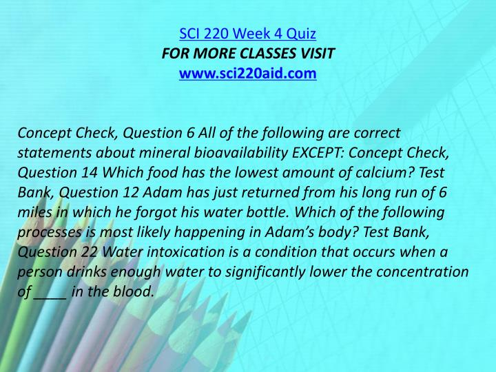 SCI 220 Week 4 Quiz