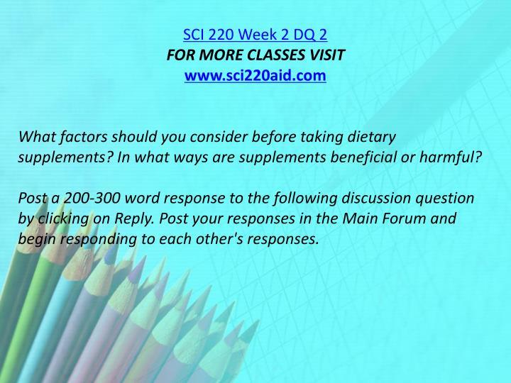 SCI 220 Week 2 DQ 2