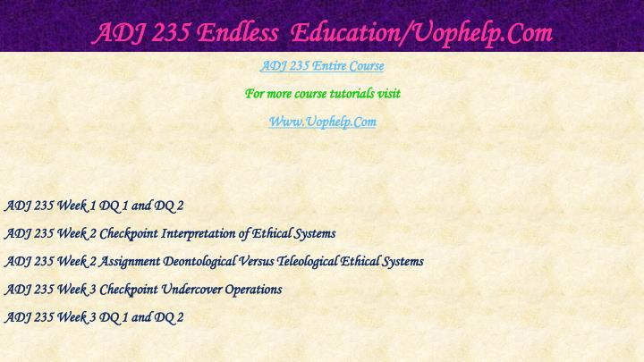 Adj 235 endless education uophelp com1
