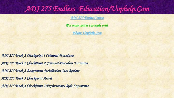 Adj 275 endless education uophelp com1