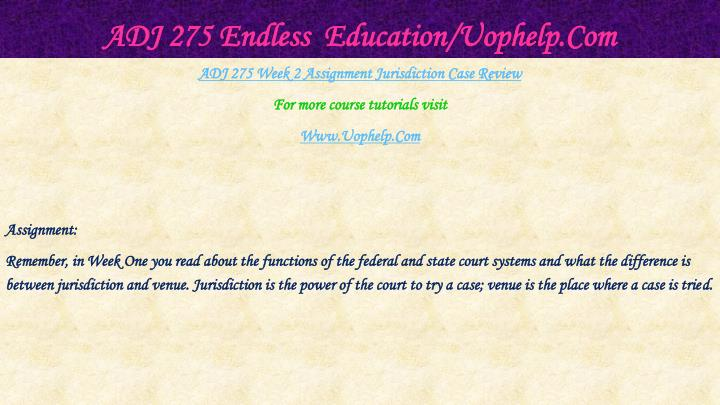 Adj 275 endless education uophelp com2